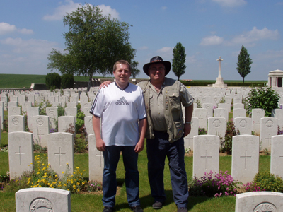 South africa war graves project for Jarrod barker